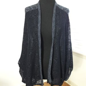 Knox Rose Blue Open Front Cardigan Womens Size XL